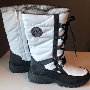 White Totes Lace Up Waterproof Winter Boot